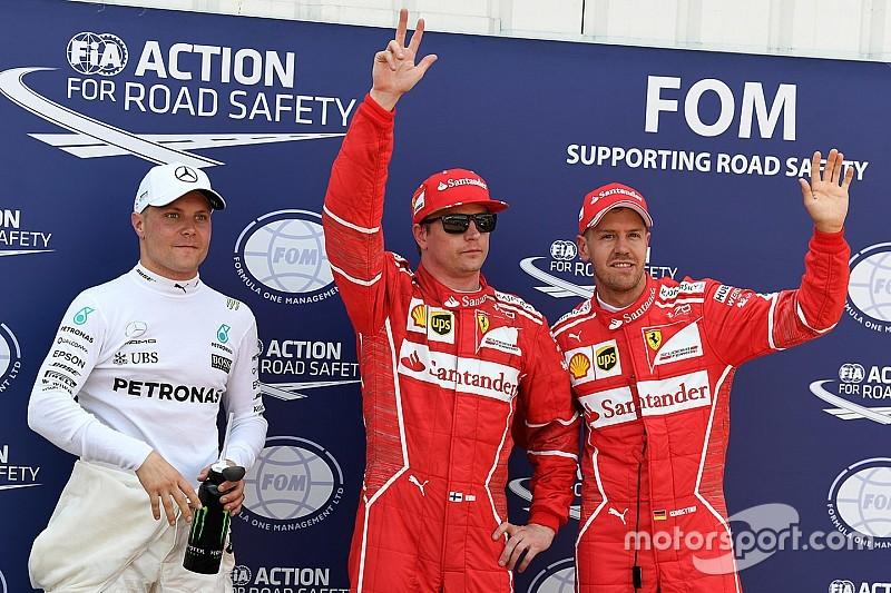 Raikkonen voor het eerst sinds Frankrijk 2008 weer op pole, Verstappen P4