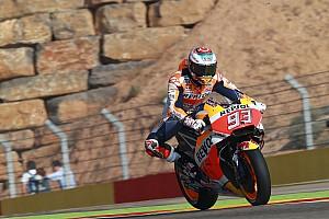 MotoGP Jelentés a versenyről MotoGP: Kettős Repsol-győzelem Aragóniában, Rossi törött lábbal ötödik