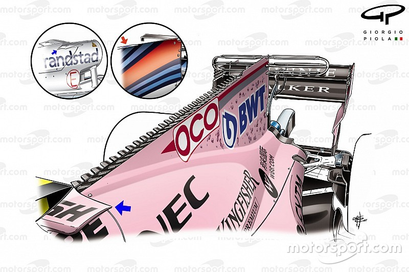 Tech gallery: How the Force India VJM10 evolved throughout 2017