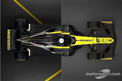 Vergleich Design Formel-1-Autos 2018 vs. 2019: Renault
