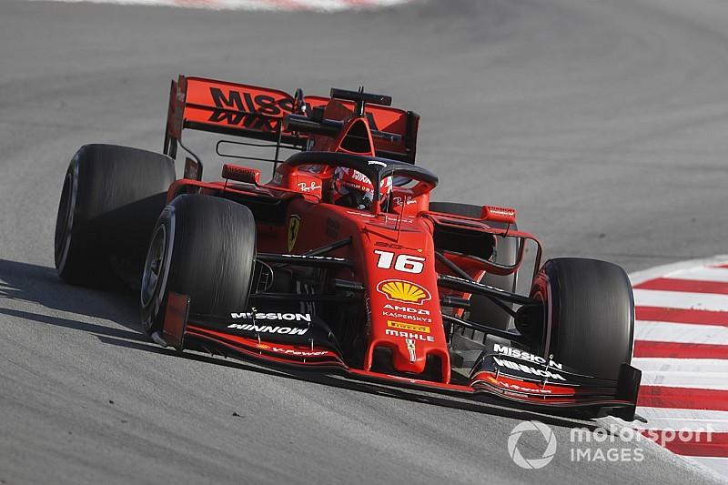 Leclerc zet de toon tijdens voorlaatste testdag, Gasly crasht met Red Bull