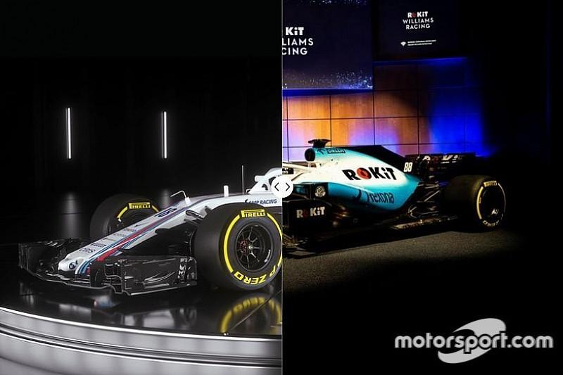 Vergleich Design Formel-1-Autos 2018 vs. 2019: Williams