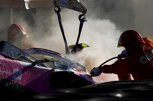 Racing Point: motore Mercedes ko dopo il crash di Stroll