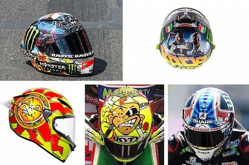 GALERIA: Os capacetes especiais de 2018 da MotoGP