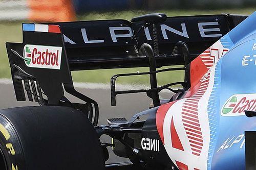El cambio de Alpine en el alerón trasero del coche de Alonso y Ocon