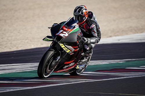 MotoGP: ecco Maverick Vinales in sella all'Aprilia RS-GP a Misano