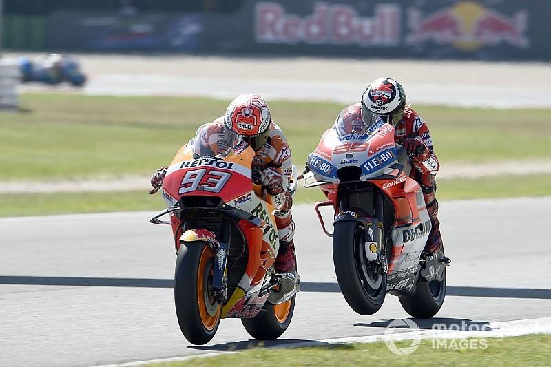 Ducati telat panas, Marquez sebut dirinya beruntung