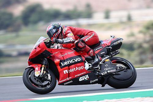 Portuguese MotoGP: Bagnaia leads Quartararo in FP2
