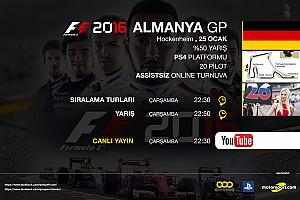 FORMULA 1 LİGİ Son dakika F1 2016 online turnuva: Almanya GP - Canlı Yayın