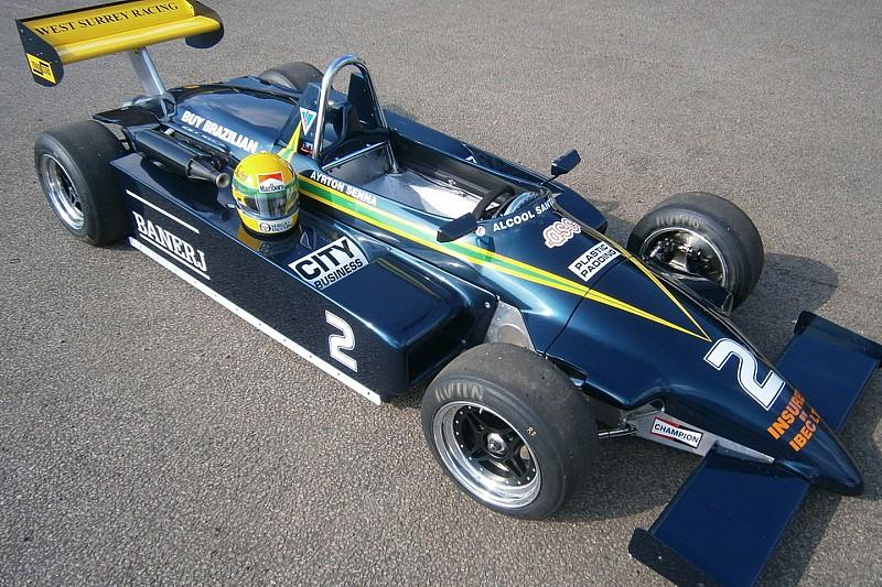 L'ancienne F3 de Senna au départ du GP de France historique