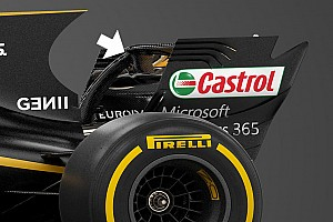 Renault: il mono pilone della R.S.17 si ancora al DRS. E' legale?