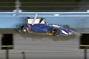 IndyCar Breaking news Sato pounds the Phoenix wall, escapes unhurt