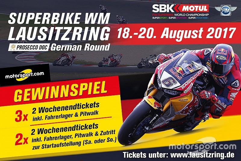 Gewinnspiel: Gewinne Tickets für die Superbike-WM am Lausitzring