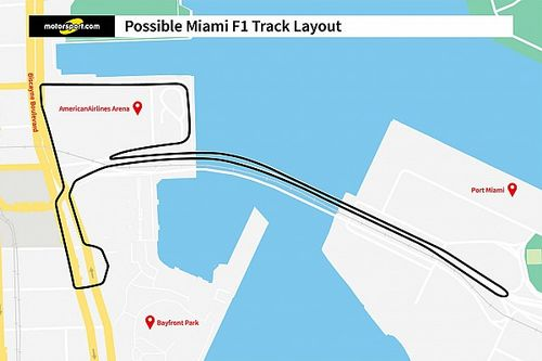 F1 Grand Prix Miami voert door havengebied