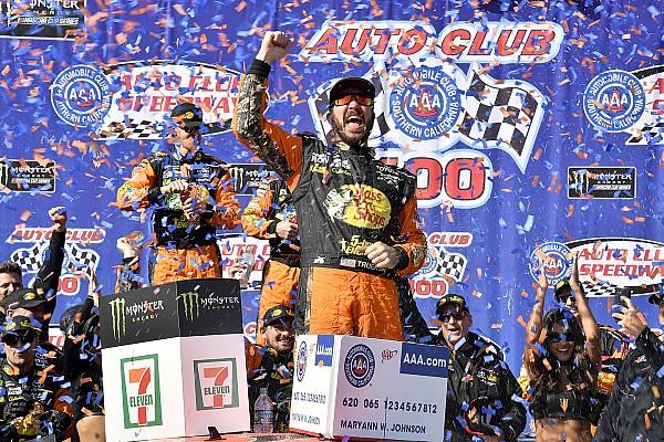 NASCAR Cup Race report Martin Truex Jr. takes dominant win at Fontana