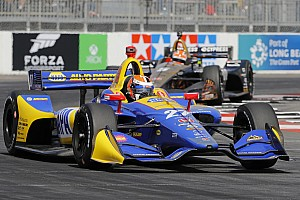IndyCar Practice report Long Beach IndyCar: Rossi leads in FP2, Sato crashes