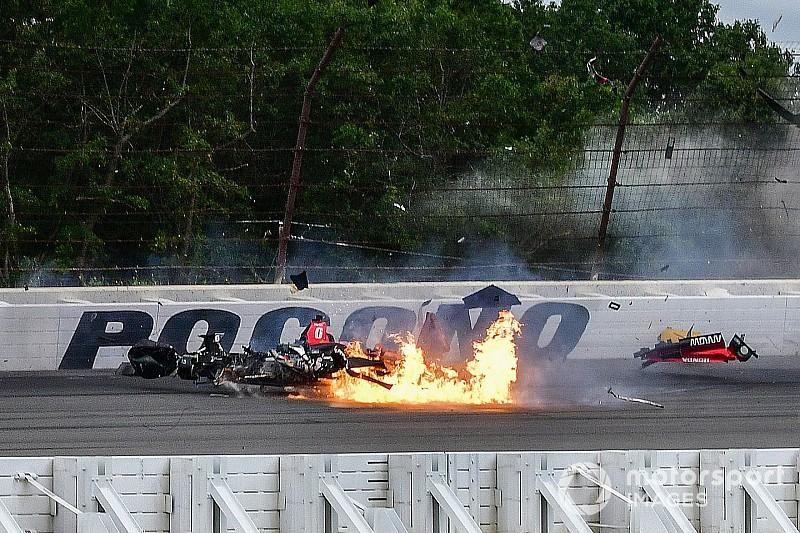 Fotogallery: ecco la sequenza del terribile incidente di Robert Wickens a Pocono