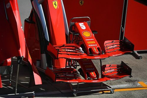 First look: Ferrari's upgraded F1 front wing