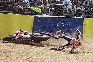 MotoGP Réactions Márquez à la faute :