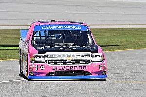 NASCAR Truck Breaking news Grala's Truck playoffs end with crash at Talladega - video