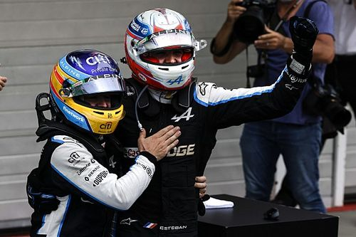 Ocon credits Alonso for role in shock Hungary F1 race victory