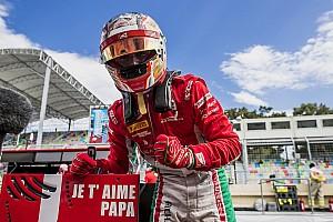 FIA F2 Réactions Leclerc en pole :