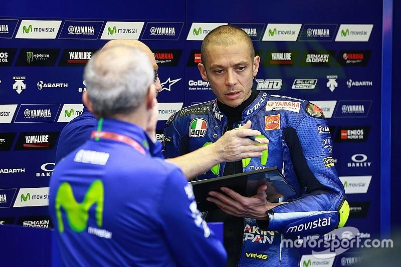 Rossi tidak cukup cepat di trek basah dan kering