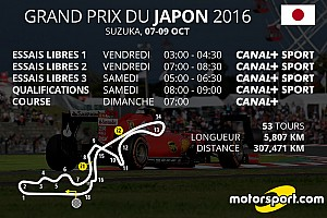 Formule 1 Preview Le programme TV du GP du Japon
