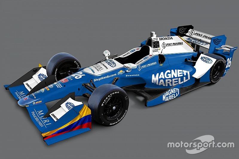 Il marchio Magneti Marelli sulle Dallara del team Andretti Autosport
