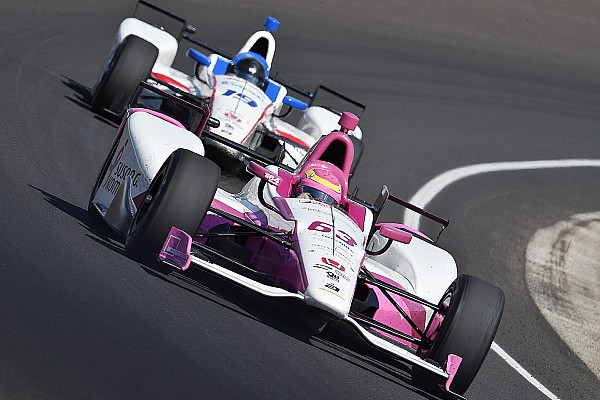 Pippa Mann racing for Coyne, and Clauson, at Pocono