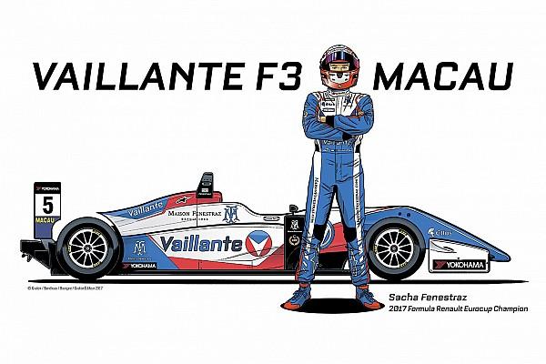 Formule 3 Fenestraz avec une livrée Vaillante à Macao!
