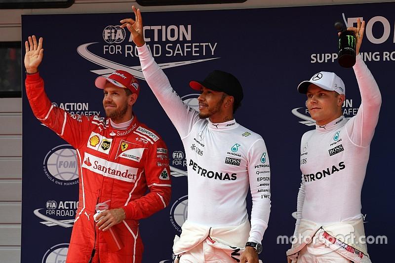 中国大奖赛排位赛:汉密尔顿再获杆位,维特尔屈居第二