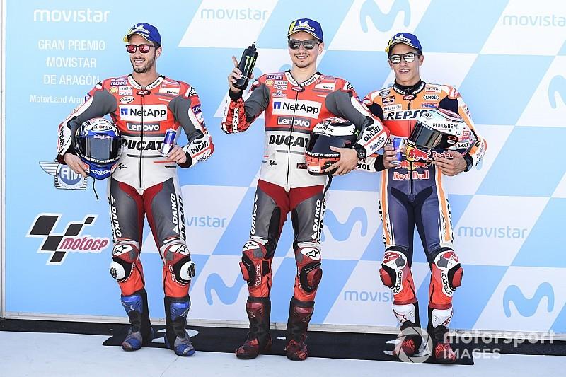 La parrilla de salida del Gran Premio de Aragón de MotoGP
