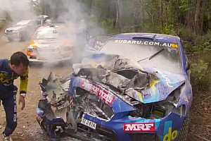 VIDEO: Un impactante choque en el Rally de Australia