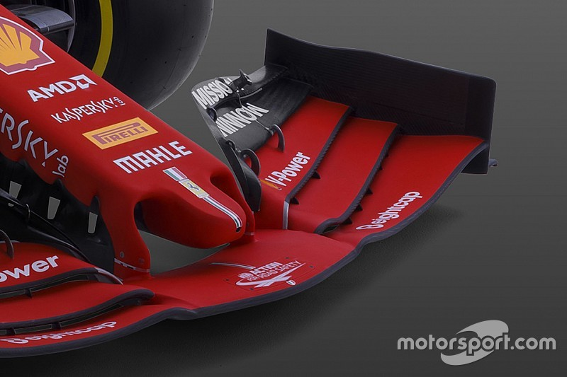 """F1新車""""雑感""""解説:フェラーリSF90……両端が低いフロントウイングはトレンドに?"""
