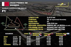 Los horarios del GP de Bahréin de F1