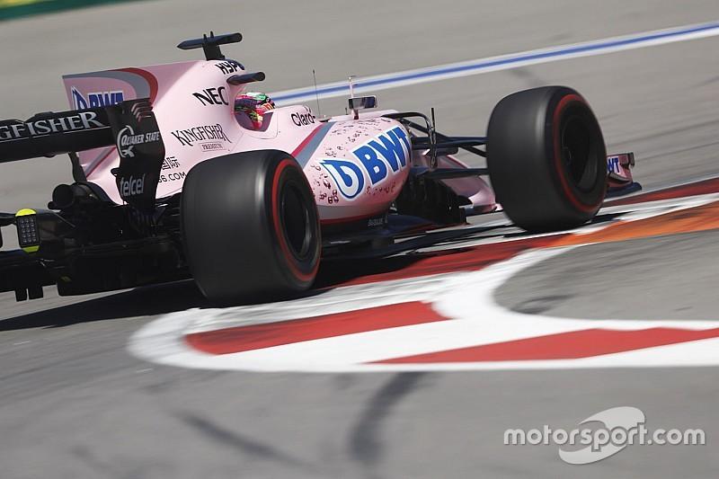 Force India: Ocon elégedett, Pérez nem