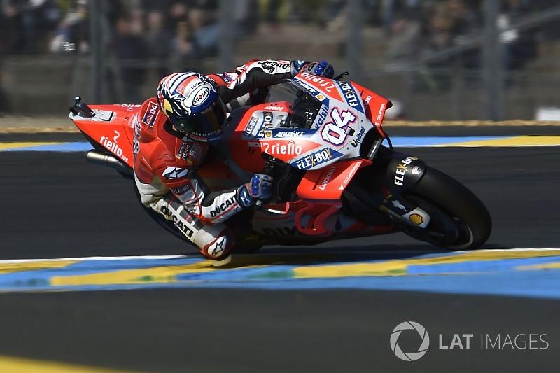 Le Mans, Libere 2: Dovizioso batte la best pole davanti a Marquez e Rossi