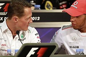 Hamilton le envió un mensaje a Schumacher