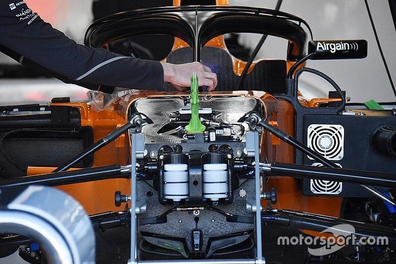 Nem követi a Mercedest az első felfüggesztés kialakításában a McLaren