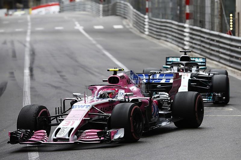 La Force India nega di aver favorito le Mercedes a Monaco con Ocon