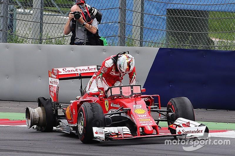 """Vettel: """"Nessuna avvisaglia, la gomma è esplosa all'improvviso"""""""