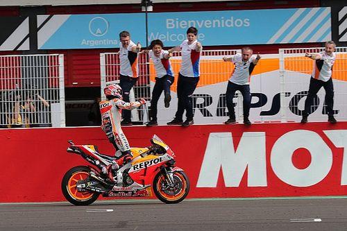 MotoGP Argentina: Marquez menang dominan, Rossi podium