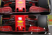 Ferrari: l'ala anteriore scarica era tutta nuova
