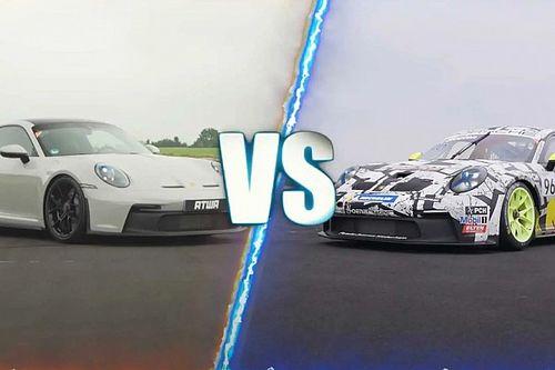 Videó: Mennyivel gyorsabb a Porsche 911 GT3 Cup a közúti változatnál?