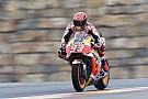 MotoGP Aragon MotoGP: Marquez tops damp FP1, Rossi P18