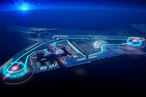 Una curva peraltada entre los cambios de Abu Dhabi para la F1