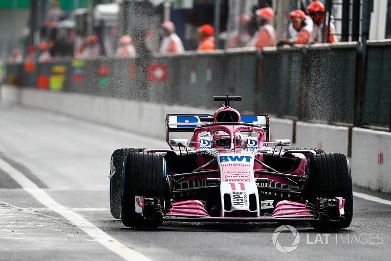 意大利大奖赛FP1:佩雷兹雨中领先莱科宁,奥康第三快