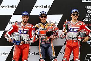 MotoGP Reporte de calificación La parrilla de salida del GP de Austria