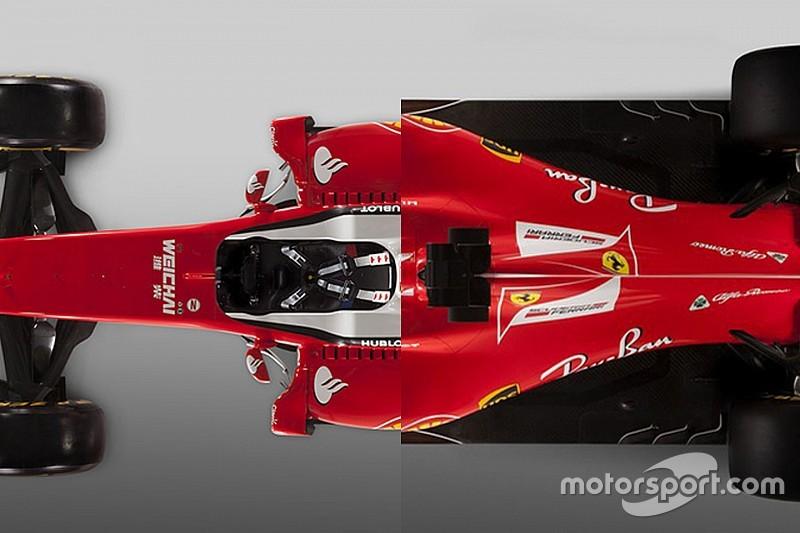Formel 1 2017: Ferrari SF16-H und SF70H im Vergleich
